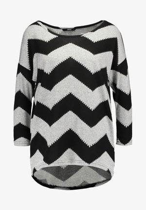 ONLELCOS - Maglione - light grey melange/black