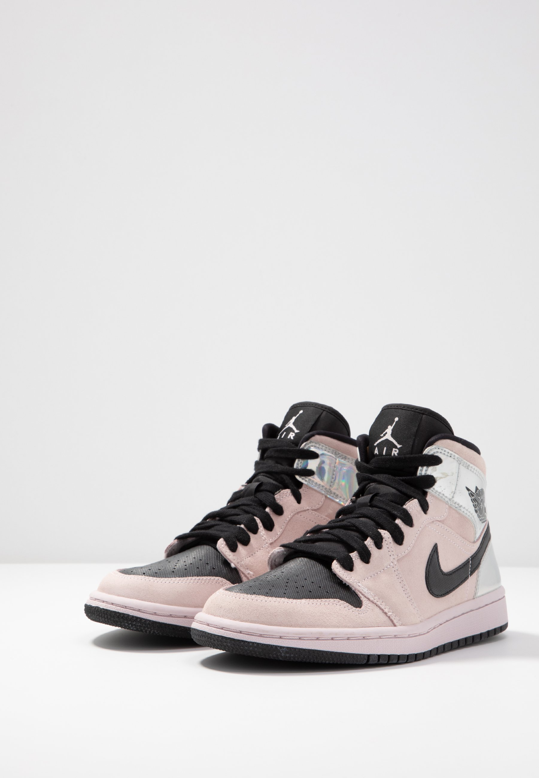 WOMENS AIR 1 MID - Baskets montantes - barely rose/black/multicolor