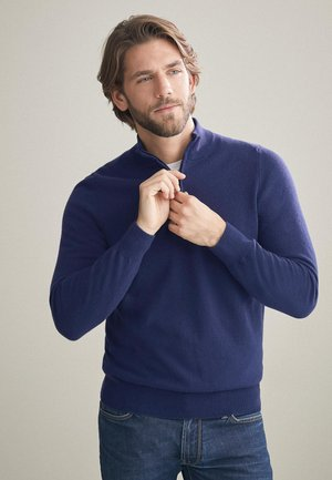 Jumper - mottled royal blue