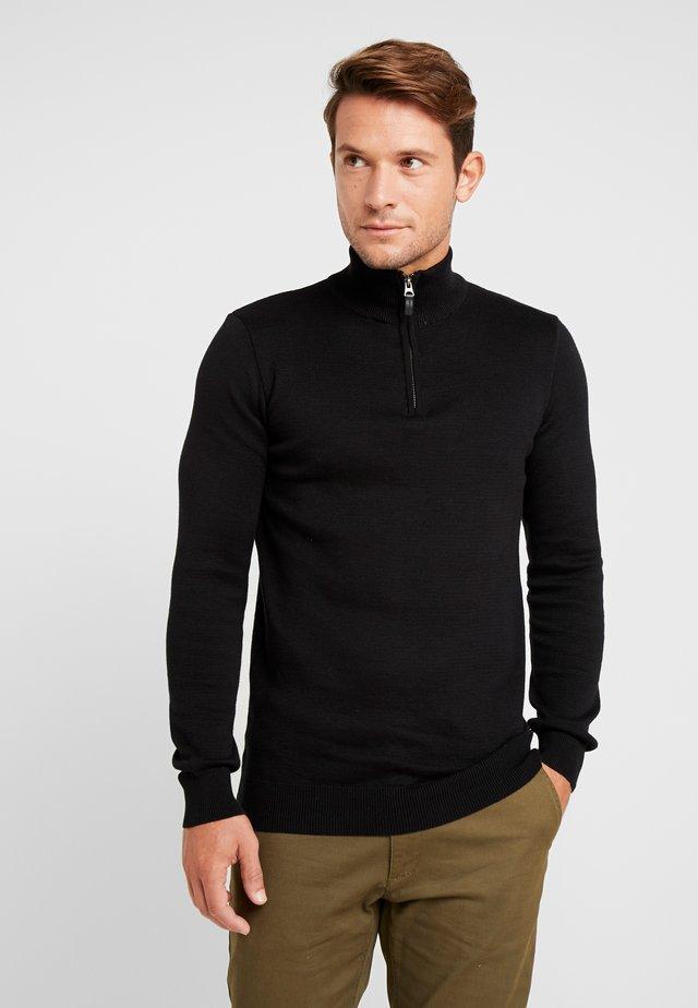 DOWNHILL RACER - Stickad tröja - black